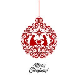 Merry Christmas Ornament print art