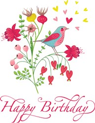 Happy Birthday Bouqet print art