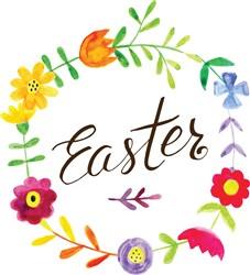 Easter Flowers print art