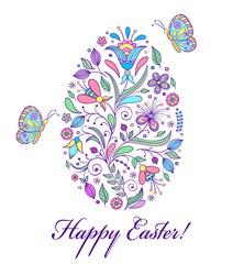 Happy Easter Egg print art