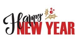 Happy New Year print art
