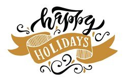 Happy Holidays print art