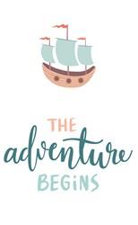 Adventure Begins print art