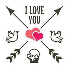 I Love You print art