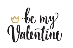 Be My Valentine print art