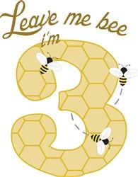 3 Year Old Honey Bee print art