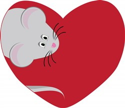 Mouse In Heart print art
