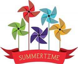 Summertime Pinwheel print art