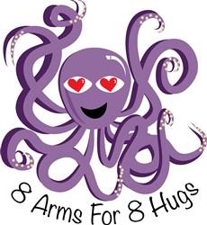 Free Hugs Octopus print art