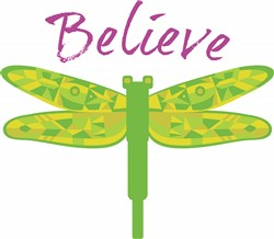 Dragonfly Believe print art