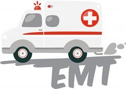 EMT Ambulance print art