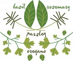 Various Herbs print art
