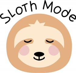 Sloth Mode print art