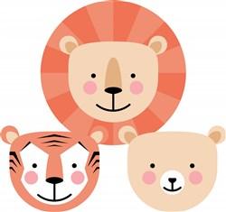 Lion, Tiger & Bear Oh My! print art