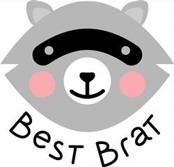 Raccoon Best Brat print art