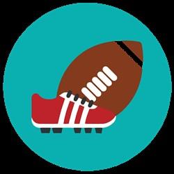 Football & Shoe print art