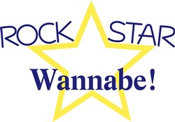 Rock Star Wannabe print art