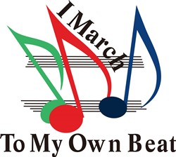 I March to My Own Beat print art
