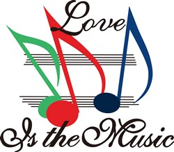 Love is the Music print art
