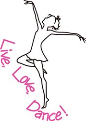 Live, Love, Dance! print art
