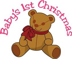 Babys 1st Christmas print art