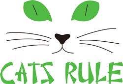 Cats Rule print art