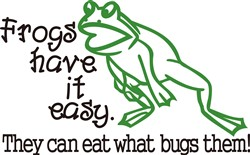 Frogs Have It Easy print art