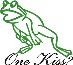 One Kiss? print art