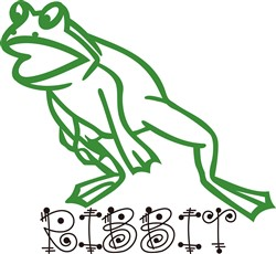 Ribbit Frog print art