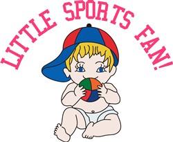 Little Sports Fan! print art
