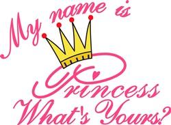 My Name is Princess print art