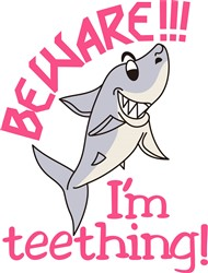 Teething Shark Beware print art
