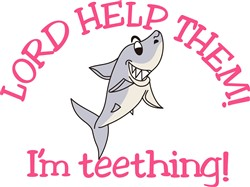 Teething Shark print art
