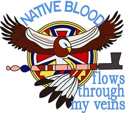 Native Blood print art
