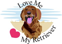 Love Me Retriever print art