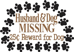 Husband & Dog Missing print art