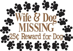 Wife & Dog Missing print art
