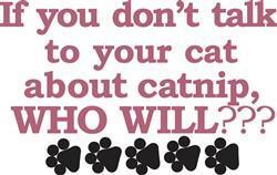 Talk about Catnip print art