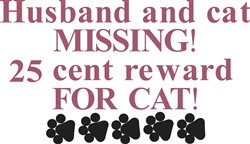 25 Cent Reward for Cat print art