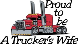 Truckers Wife print art