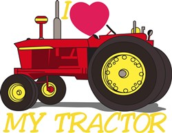 I Love My Tractor print art