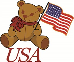 USA Bear print art