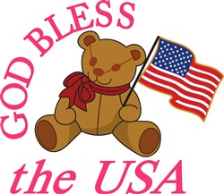 God Bless the USA print art