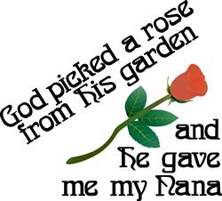 God Picked a Rose print art