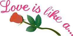 Love is Like print art