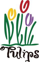 Tulips print art