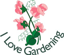 I Love Gardening print art