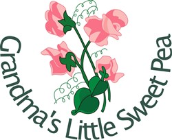 Grandmas Little Sweet Pea print art