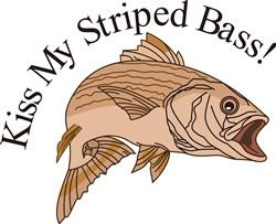 Kiss My Striped Bass print art