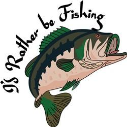 Id Rather be Fishing print art